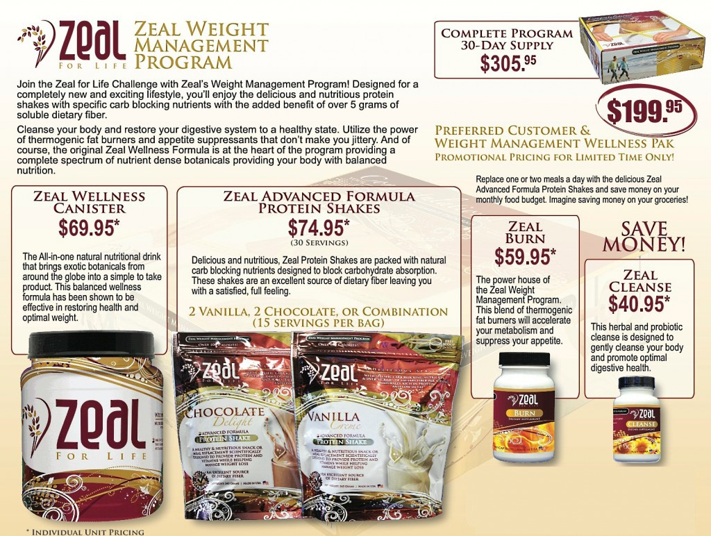 zeal weight management program